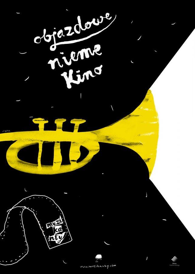 Objazdowe Nieme Kino plakat (autor: Grzegorz Myćka)